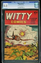 WITTY COMICS #1-1945-CGC 8.0-WILD WWII COVER-SOUTHERN STATES 1161205004 - $727.50