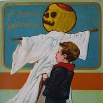Halloween Postcard Paul Finkenrath Series 778 Boy Ghost Goblin Original Embossed - $89.35