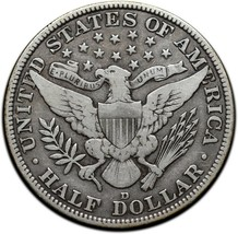 1915D Silver Barber Half Dollar Coin Lot A 320 image 2