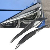Carbon Fiber Car Headlight Cover Eyebrow Eyelid Trim Fit For BMW F30 F35... - $69.29