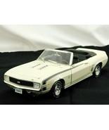 ERTL 1969 Chevrolet Camaro SS 396 Convertible White Die Cast Car 1/18 No... - $25.99