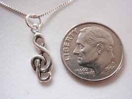 Tiny Treble Clef Pendant 925 Sterling Silver Corona Sun Jewelry - $3.51