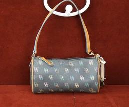 Dooney & Burke Baguette Multi Colored Zipper Handbag Purse Charcoal Gray... - $22.27