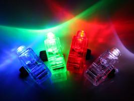 100 PCS FINGER LIGHT UP RING LASER LED RAVE PARTY FAVORS GLOW BEAMS - $25.99