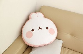 Molang Face Cushion Stuffed Animal Rabbit Plush Toy Pillow 17.7 inches image 2