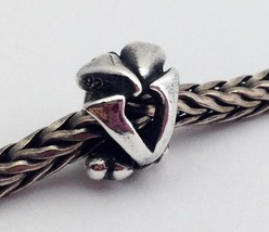 "Authentic Trollbeads Sterling Silver Letter ""V"" Charm 11144V, New - $22.79"