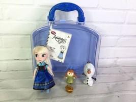 Disney Store Animators Collection Frozen Elsa Mini Doll Play Set Toy Wit... - $19.79