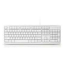 iRiver Korean English USB Wired Keyboard Membrane with Cover Protector (White)