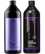 Matrix Total Results So Silver Shampoo & Color Obsessed Conditioner 33oz... - $49.49