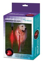 Led Dog Leash, Red Metal Waterproof Personalized Small Dog Leashes 5 Foot - $16.68