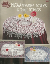 Crochet Leaflet #1070 New PINEAPPLE DOILIES & TABLE TOPPERS VTG 1989 - $12.95