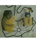 Wind Chimes, Metal, Frogs on Lily Pad  - $20.00