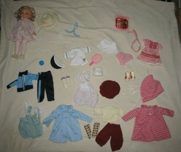 Vtg 1978 Fisher Price My Friend Mandy Doll 8 Outfits Clothes Socks Shoes - $89.09