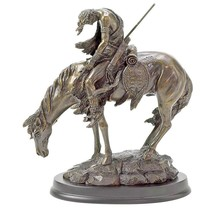 End of the Trail Bronze Finish Horse Native American Statue Figurine #31044 - $27.44