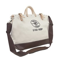 Klein Tools 5102-18SP Deluxe Canvas Tool Bag Made of Natural Canvas with 13 Inte - $77.99
