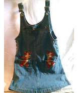Disney Chip 'n Dale Small Size Denim / Jean Jumper / Skirt * WALT DISNEY - $9.88