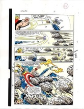 1989 Avengers Marvel color guide art page 16:Captain America/Fantastic F... - $99.50