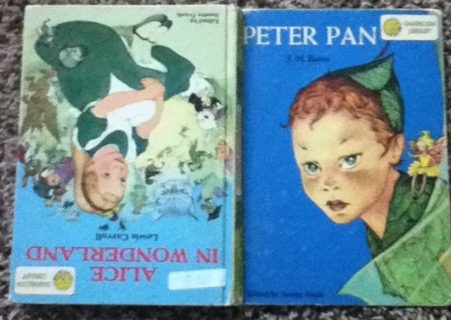 Peter Pan Alice in Wonderland Book Dandelion Library 1955