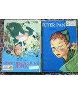 Peter Pan Alice in Wonderland Book Dandelion Library 1955 - $9.00