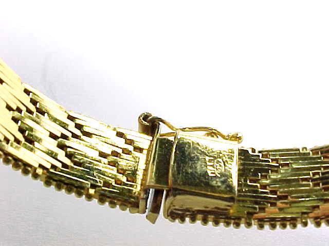 Fine ITALIAN 14K GOLD on STERLING Silver BRACELET - Designer signed - 29.5 grams