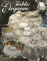 Annie's Attic Thread crochet Table Elegace patterns # 879103 VTG.1996 - $12.95