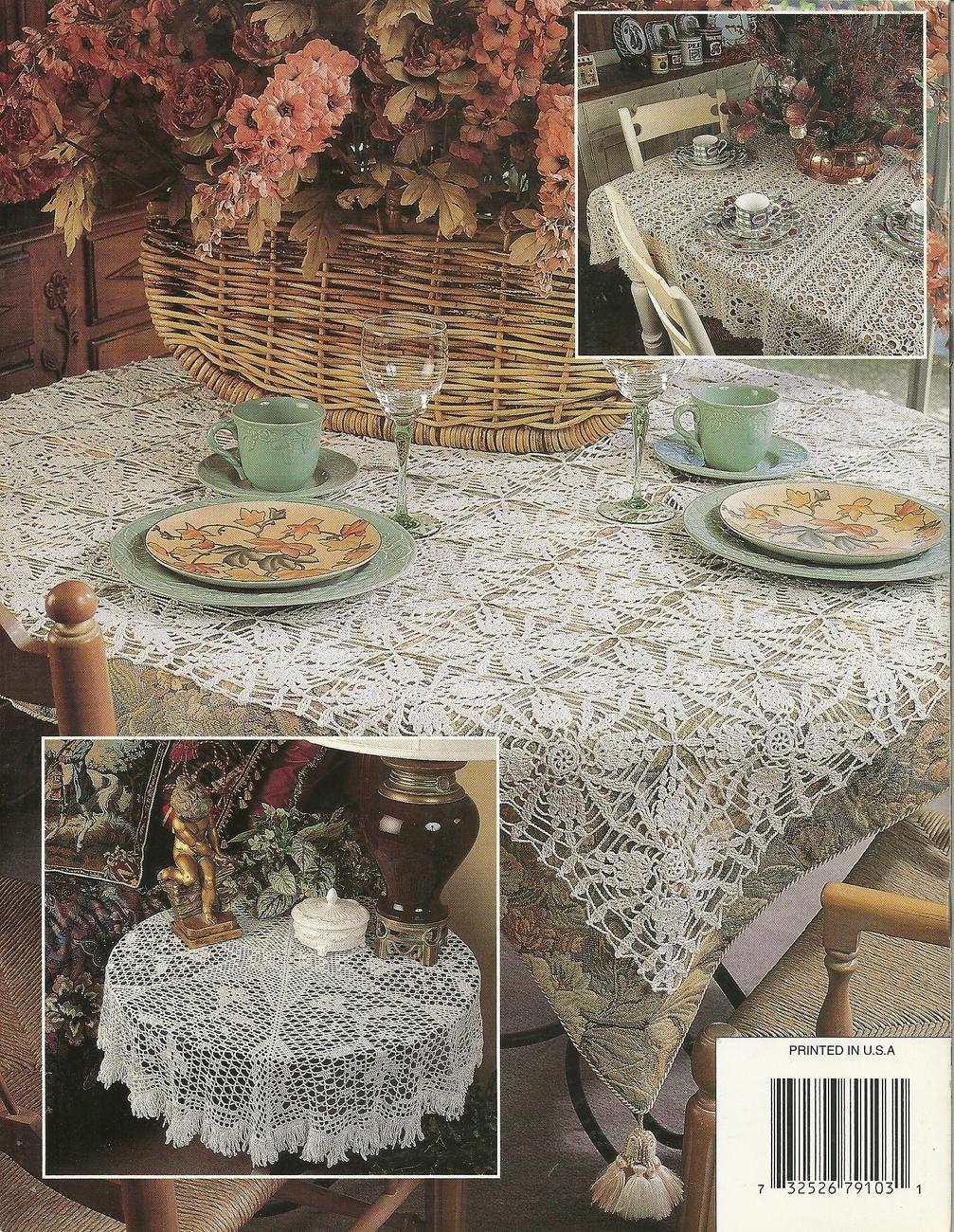 Annie's Attic Thread crochet Table Elegace patterns # 879103 VTG.1996