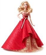 Holiday Barbie Doll 2014 in Posh Princess Red and Gold Satin Gown, Mattel - €37,02 EUR