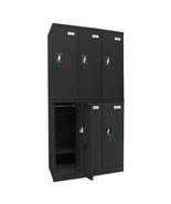 Sandusky Quick Assembly Black Triple Wide - Black, School Lockers, Metal... - $629.99