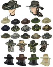 Cool Mesh Brim Camo Boonie Bucket Hat Military Hunting Fishing Hiking Ou... - ₨412.93 INR+