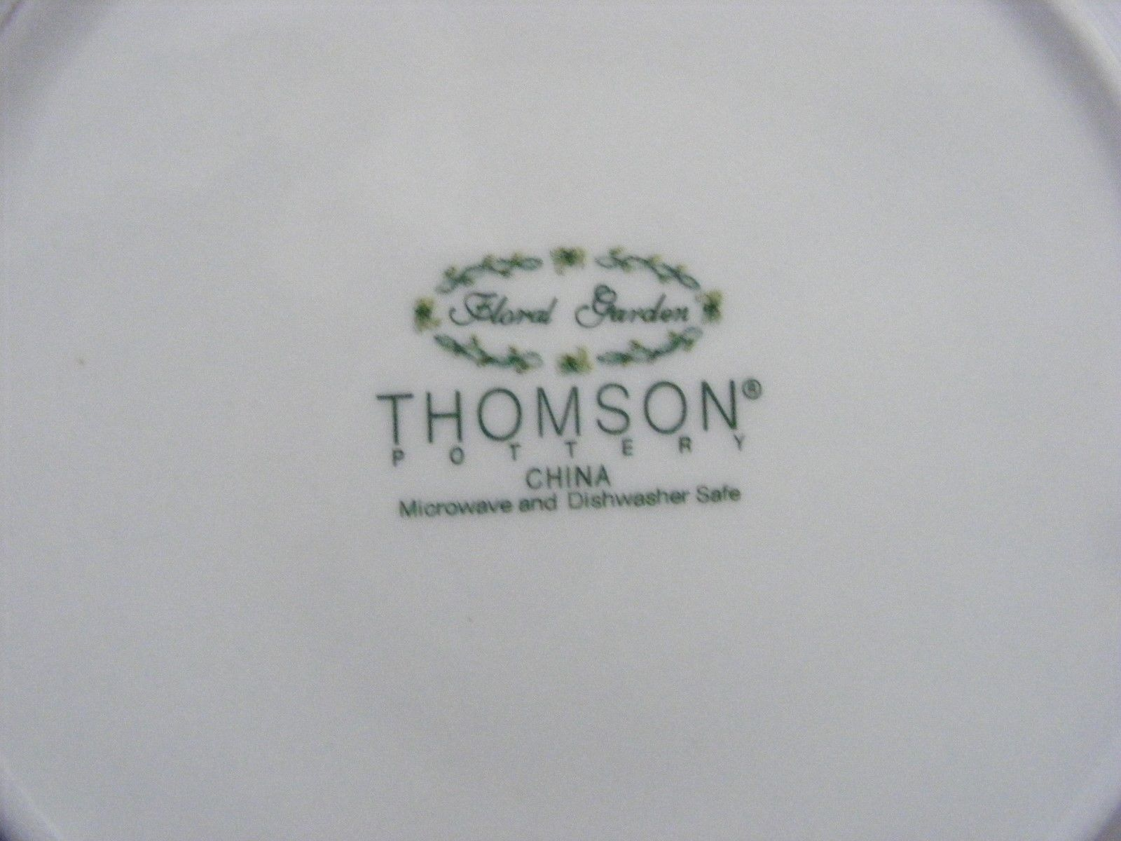 """Thomson Floral Garden 7.5"""" Salad Plate Yellow Daffodil Flowers"""