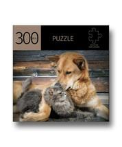 """Cat & Dog Pals Design Jigsaw Puzzle 300 pc Durable Fit Pieces 11"""" x 16"""" Complete"""