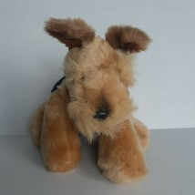"""Black and Brown Terrier Puppy Dog Plush 7"""" Realistic Stuffed Animal Toy - $9.90"""