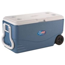 Wheeled Rolling Cooler Big Portable Ice Chest Durable 100 Quart 2 Wheel ... - $97.30