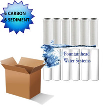 6 Carbon Block Filters 6 Sediment Filters 5 Micron 2.5X9.75