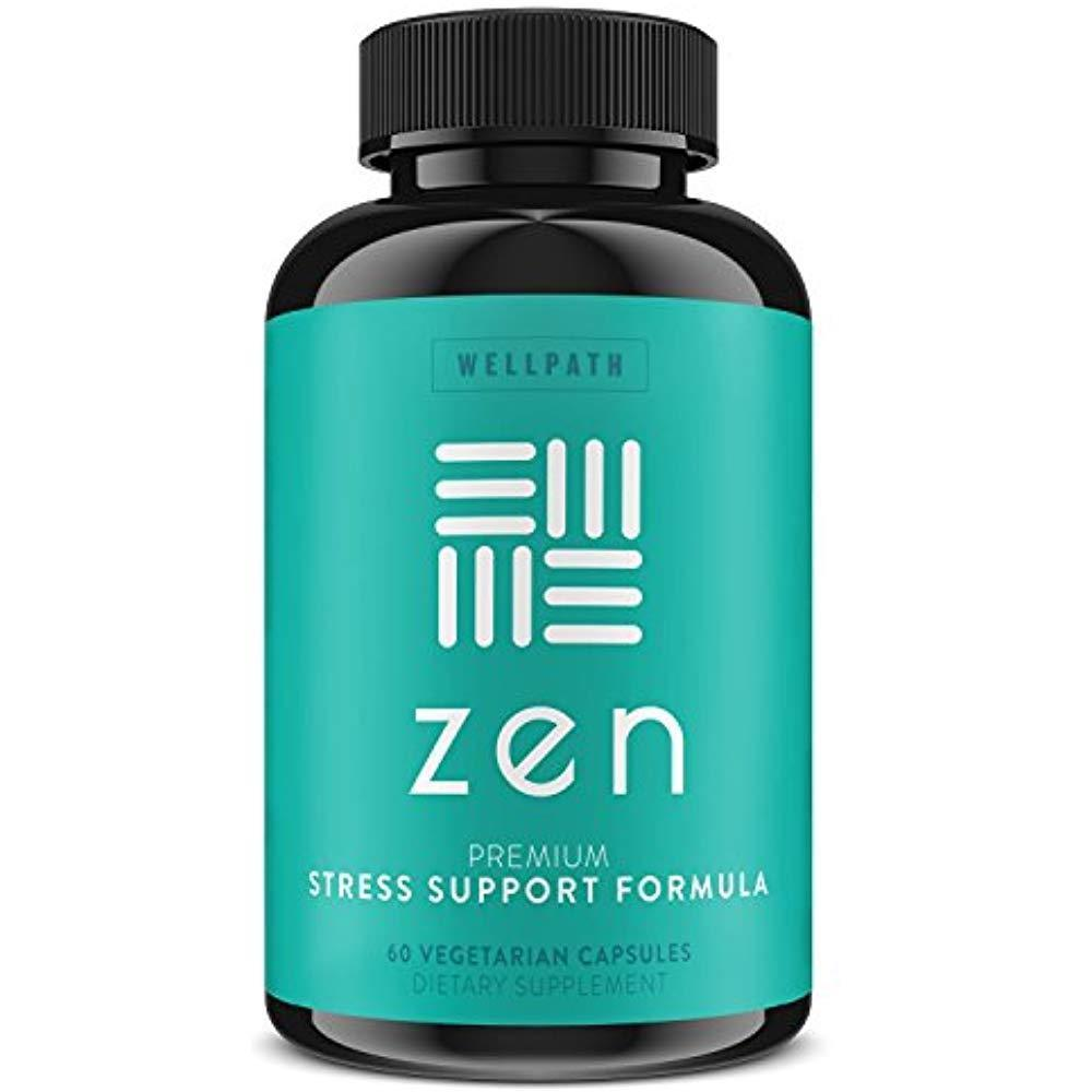 ZEN Premium Anxiety And Stress Relief Supplement - Natural Herbal Formula To &