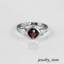 Solid Sterling Silver Ring with Garnet Gemstone - $24.95