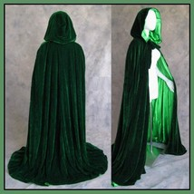 Medieval Gothic Hooded Velvet Cape Cloak 12th Century Clothing 7 Choice Colors image 6