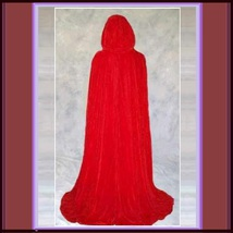 Medieval Gothic Hooded Velvet Cape Cloak 12th Century Clothing 7 Choice Colors image 7