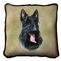 """Scottie Pillow Pure Country Weavers 17"""" x 17""""  100% Cotton Dog Breed - $19.50"""