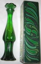 Vintage Avon Emerald Bud Vase Unforgettable Cologne 3 Fl OZ Free Shippin... - $16.41