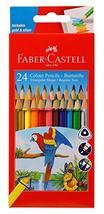 Faber Castell 24 Tri-colour Pencil Set Best Grip Includes Silver & Gold - $9.31