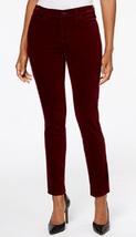 Charter Club Bristol Velveteen Skinny Pants, Wine, Size 4, MSRP $59 - $24.74