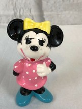 Walt Disney Productions Minnie Mouse Pink Dress Vintage Figurine Collect... - $8.35