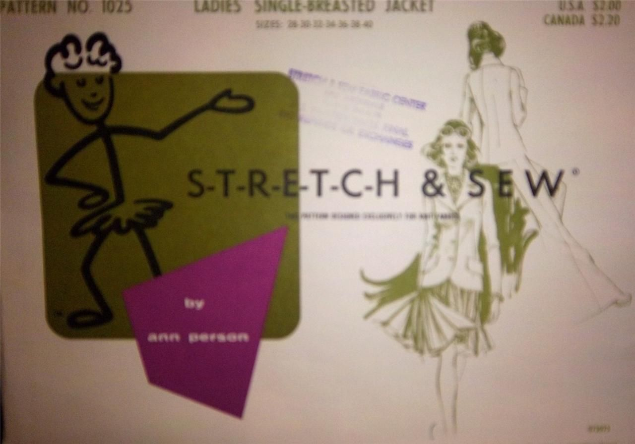 Stretch Sew 1025 Sewing Pattern: 2 listings