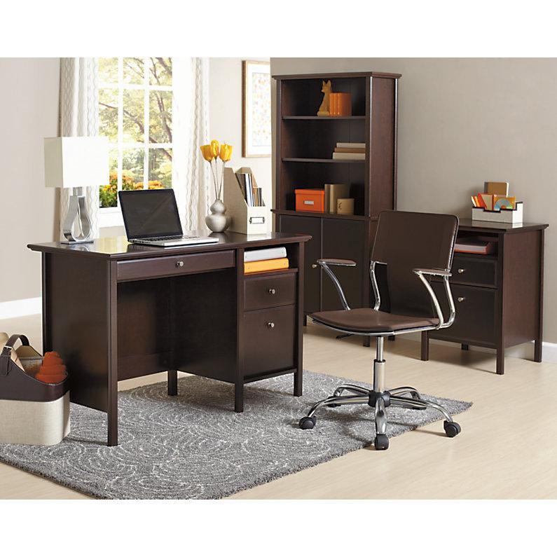 Realspace Chase Desk Dark Chestnut 941494 Desks