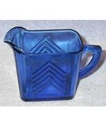 Vintage Cobalt Blue Hazel Atlas Glass Creamer P... - $10.00