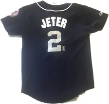 Youth Large New York Yankees Derek Jeter Majestic Authentic Boys Jersey E60 - $29.02