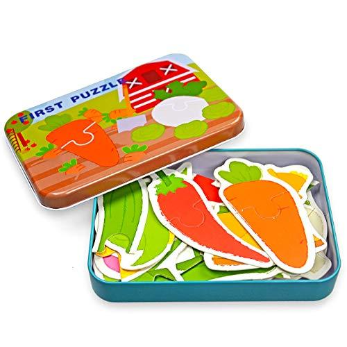 Vileafy Early Educational Flash Cards Puzzles, Jigsaw Puzzles for Toddlers First