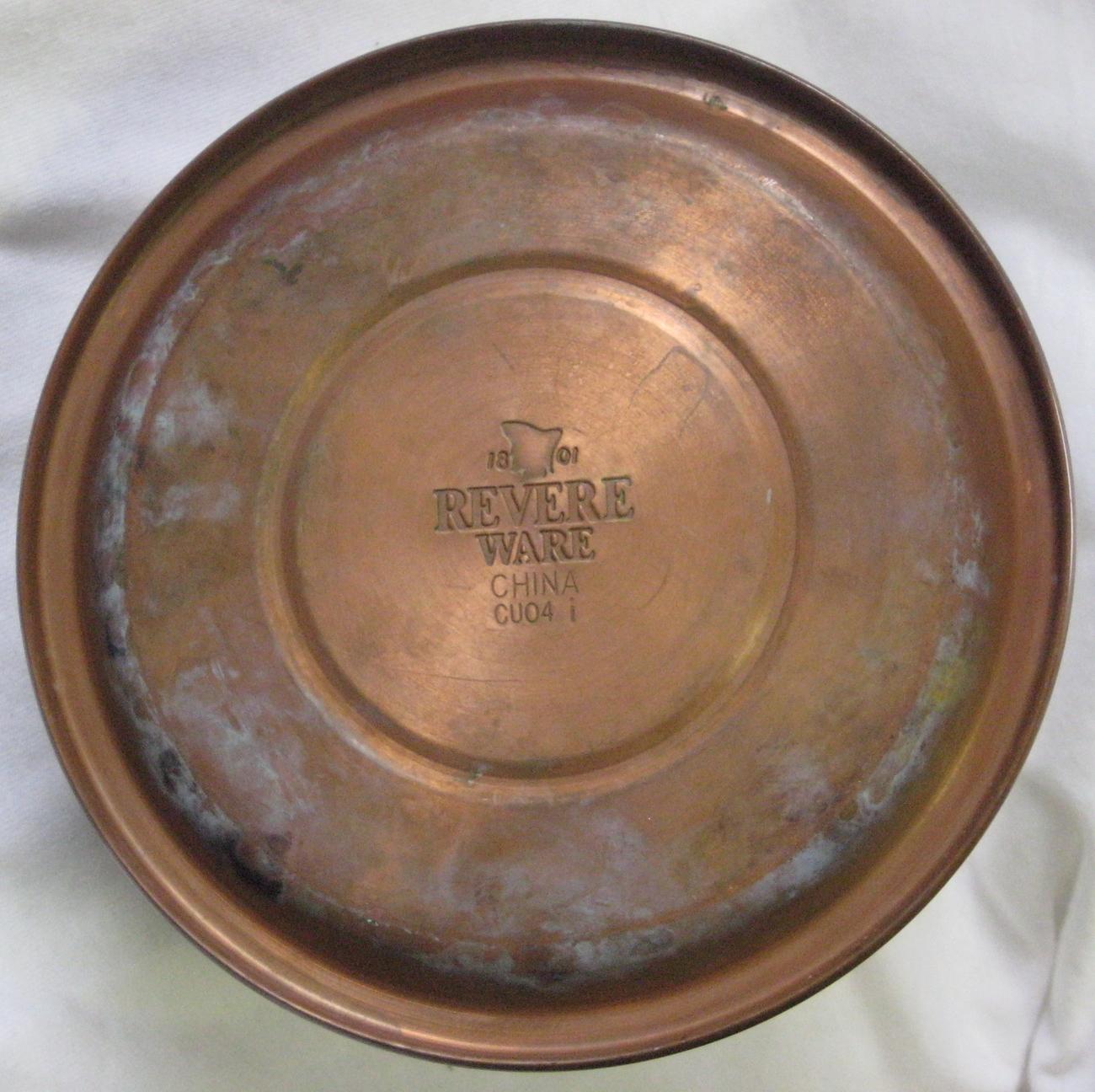 Revere Ware Whistling Tea Kettle Copper Bottom Stainless Top