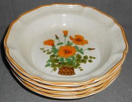 Set (4) MIKASA Garden Club PETUNIAS PATTERN Soup Bowls - $39.59